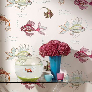 Nina Campbell Perroquet  Wallpaper Collection